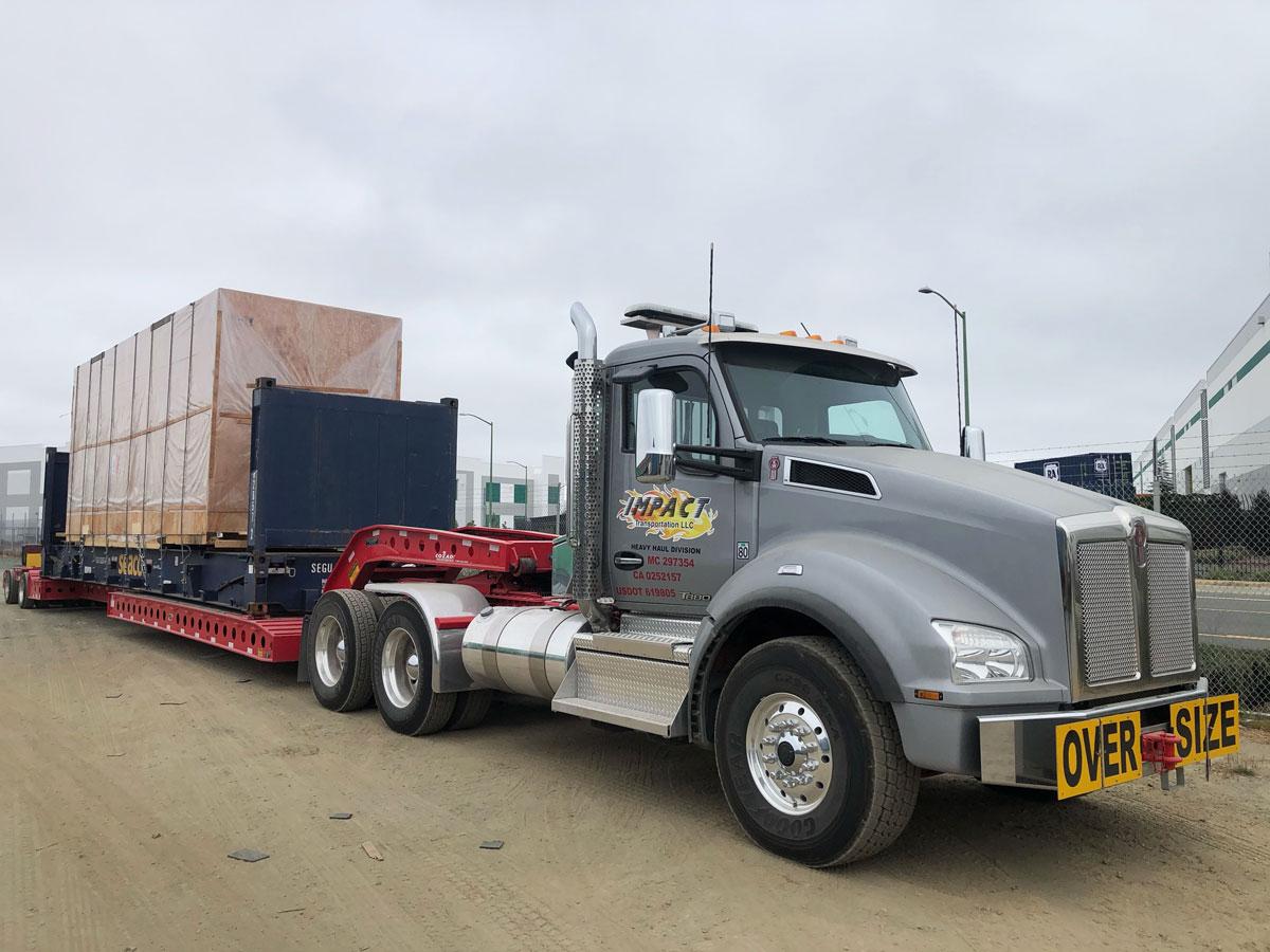 impact semi truck