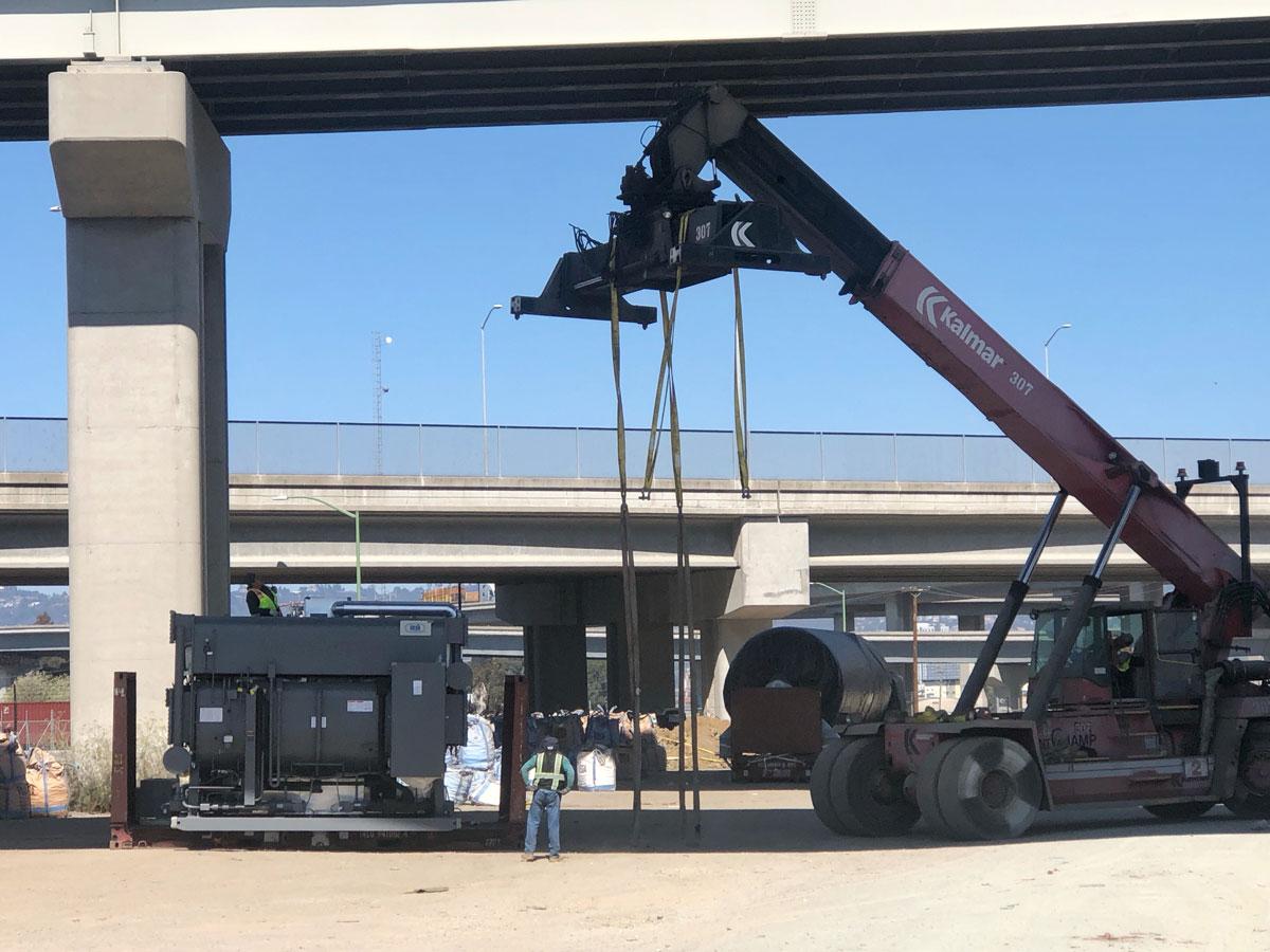 image of crane lift
